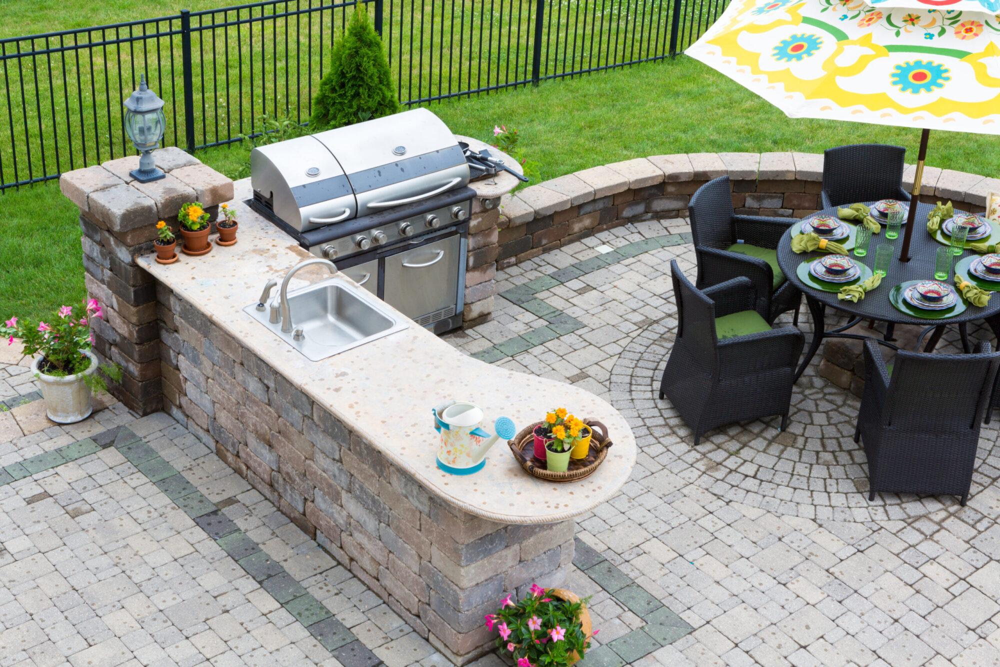 outdoor kitchen installation collinsville il